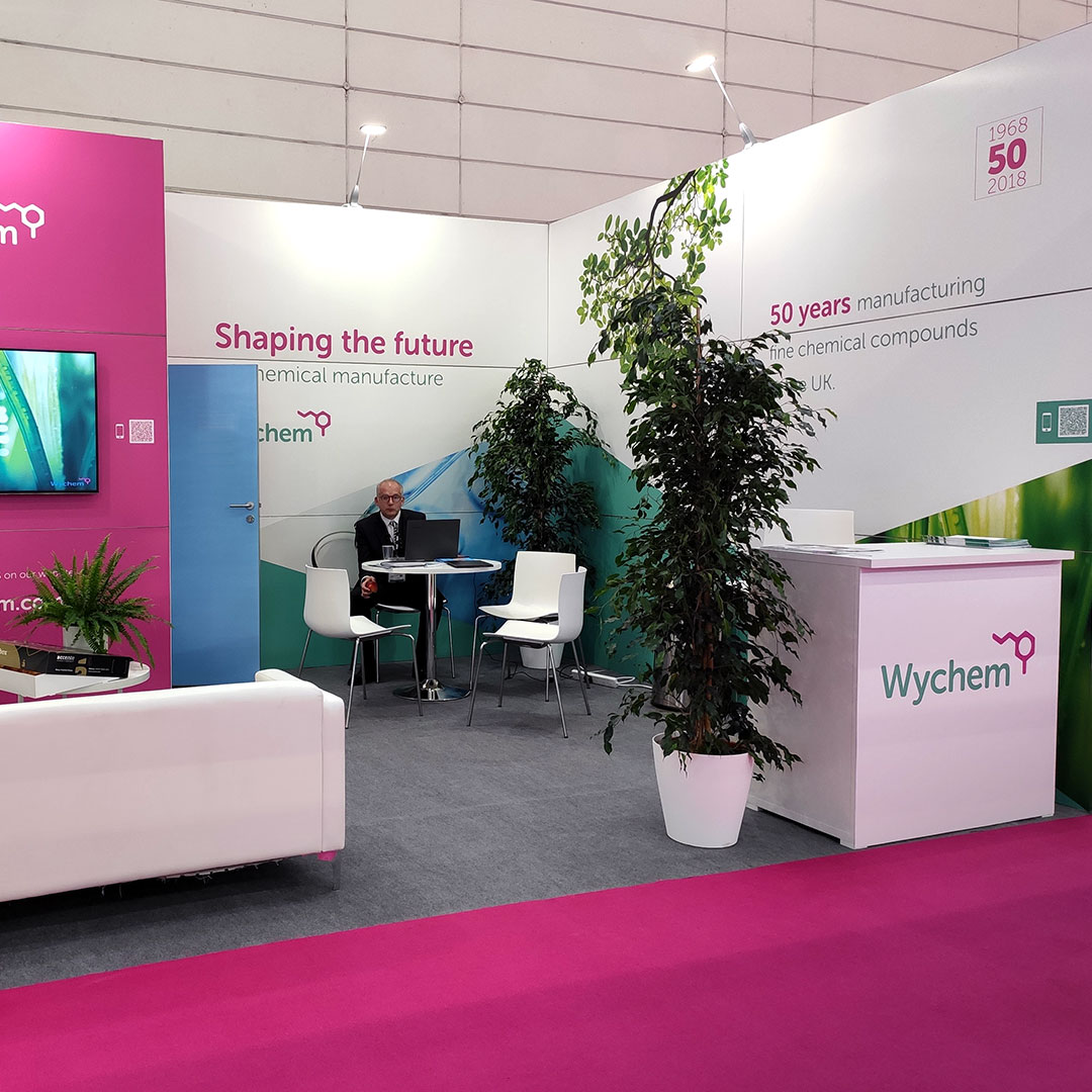 wychem exhibition stand at CPhI 2019
