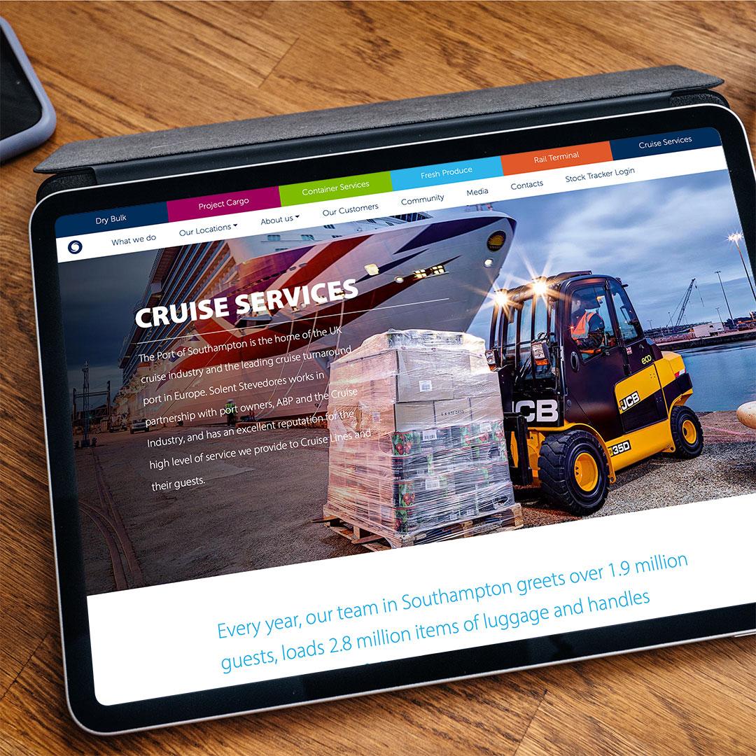 Solent Stevedores website design and development